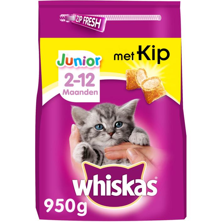 Whiskas Kattenvoer droog kip kitten < 1 jaar