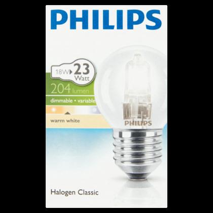 Philips Lamp Eco30 kogel 18W helder grote fit