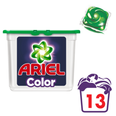 Ariel Wascapsules Excel tabs Colour 13 wasb