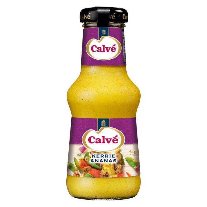Calvé Saus fles kerrie ananas