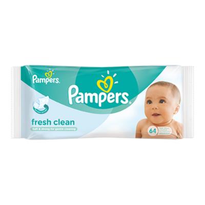 Pampers Fresh Clean Babydoekjes Single Verpakking 64 Doekjes
