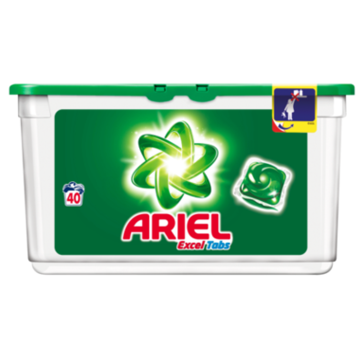 Ariel Wascapsules Excel Tabs Regular 40 wasb