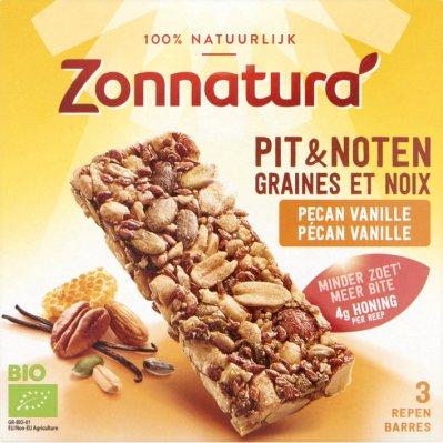 Zonnatura Pit & noten reep pecan vanilla