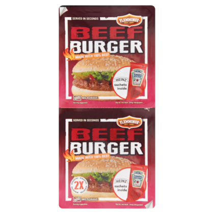 Flemmings Beefburger duo pack
