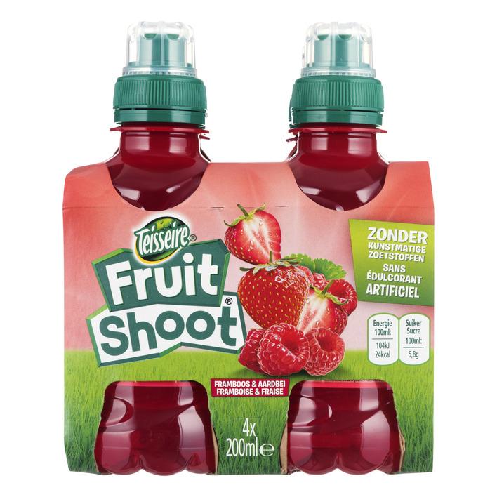 Teisseire Fruit shoot fruitdrank aardbei-framboos