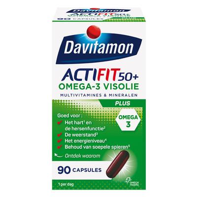 Davitamon Actifit 50+ omega-3 visolie capsules