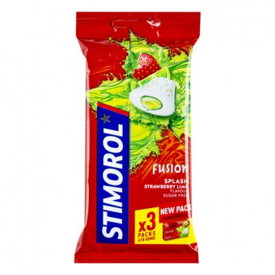 Stimorol Kauwgom max splash strawberry lime