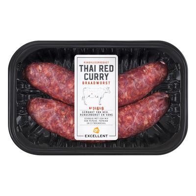 Huismerk Runderbraadworst Thai red curry