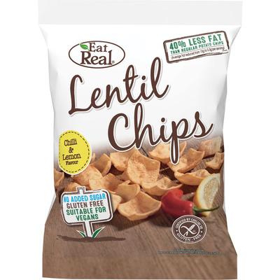 Eat Real Lentil chips chili & lemon