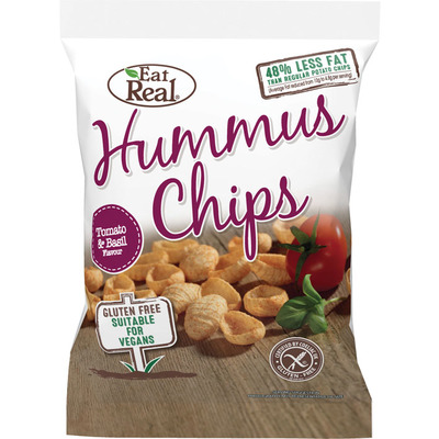 Eat Real Hummus chips tomato & basil