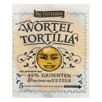 No Fairytales Wortel tortilla wrap