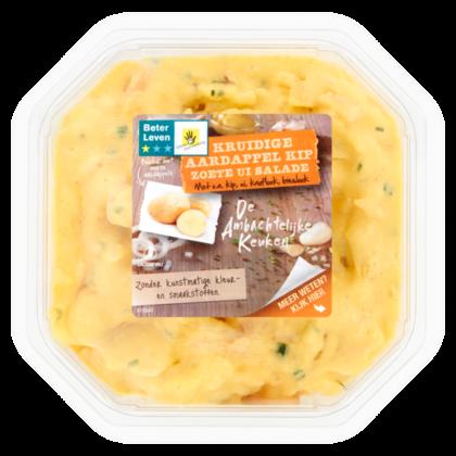 Ambachtelijke Keuken Aardappel kip zoete ui salade