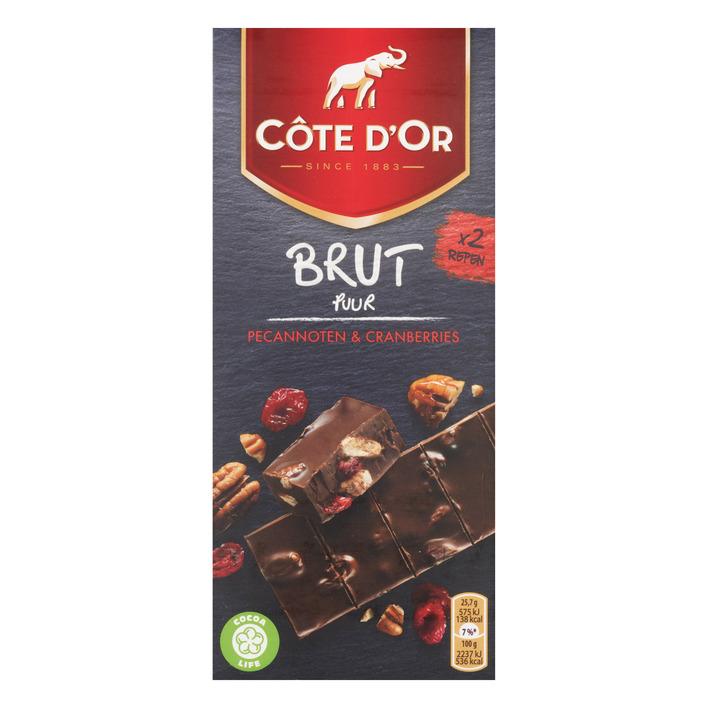 Côte d'Or Brut puur pecan en cranberries