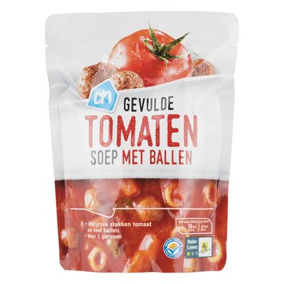 Huismerk Gevulde tomatensoep met ballen