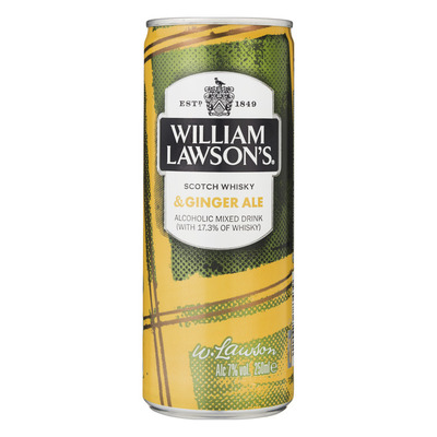 William Lawson's Scotch whisky & ginger ale