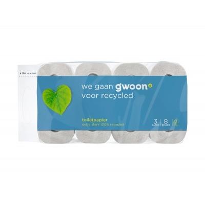 Huismerk Toiletpapier 3 laags recycled