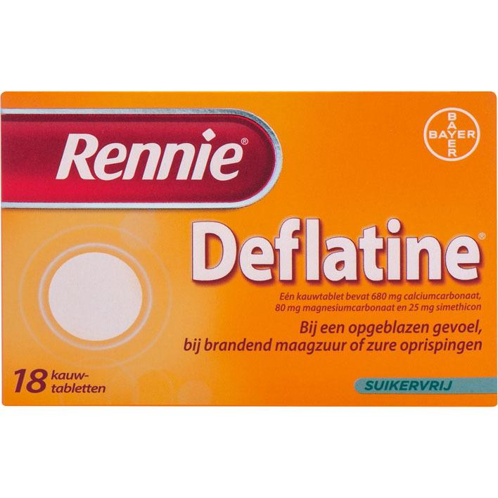 Rennie Deflatine kauwtabletten suikervrij