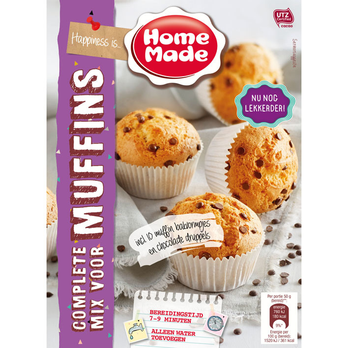 Homemade Complete mix voor muffins