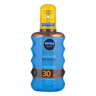 Nivea Sun Protect & bronze olie spray spf 30