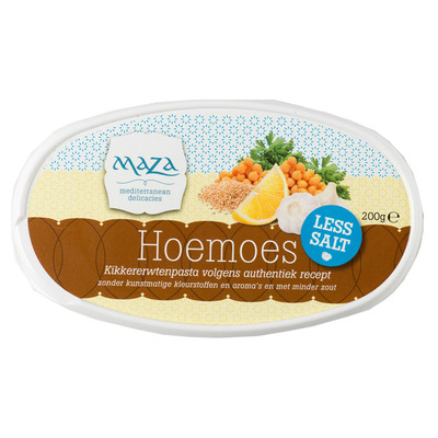 Maza Houmous laag in zout