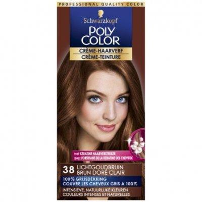 Schwarzkopf Poly color haarverf licht goudbruin 38
