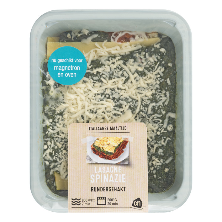 Huismerk Spinazie lasagne