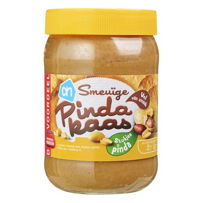 Huismerk Pindakaas met stukjes pinda voordeel