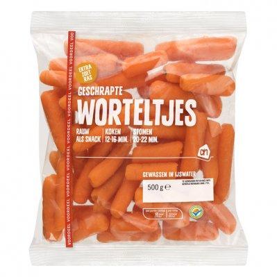 Huismerk Geschrapte worteltjes voordeel