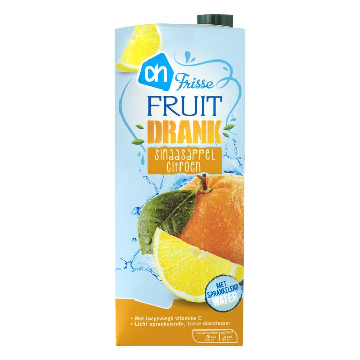 Huismerk Frisse fruitdrank sinaasappel-citroen