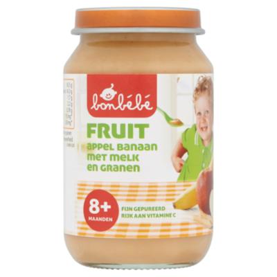 Huismerk 8+ Appel banaan melk granen