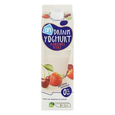 Huismerk Drinkyoghurt aardbei-kers
