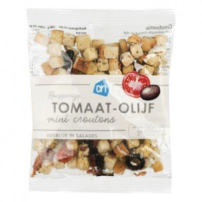 Huismerk Mini salade croutonmix zontomaat-olijf