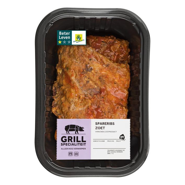 Huismerk Grill & steak spareribs zoet