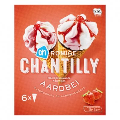 Huismerk Chantilly aardbei