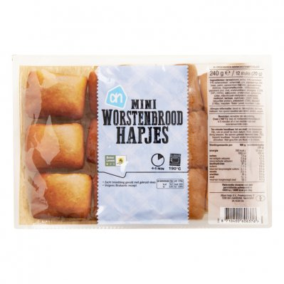 Huismerk Mini worstenbrood hapjes