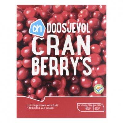 Huismerk Doosjevol cranberry's