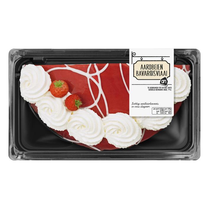 Huismerk Aardbeien bavaroise vlaai half