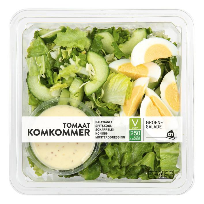 Huismerk Groene salade tomaat-komkommer