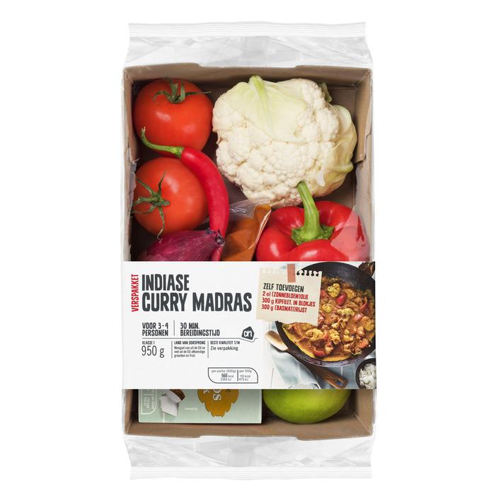 Huismerk Indiase curry madras verspakket
