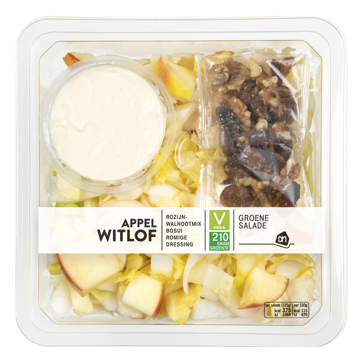 Huismerk Groene salade witlof-appel