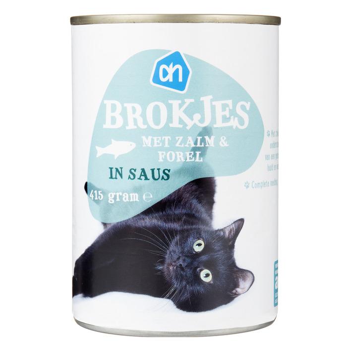 Huismerk Brokjes zalm-forel (voor de kat)