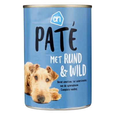 Huismerk Paté rundvlees-wild (voor de hond)