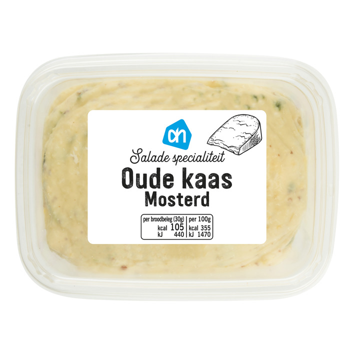 Huismerk Saladespecialiteit oude kaas-mosterd