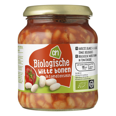 Huismerk Biologisch Witte bonen in tomatensaus