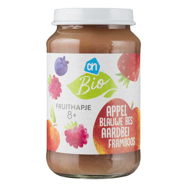 Huismerk Biologisch Fruithapje appel-aardbei framboos-bes 8m