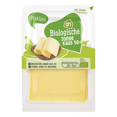 Huismerk Biologisch Jonge kaas 50+ plakken