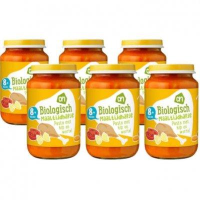 Huismerk Biologisch Kip met groenten pasta 8m71 multipack