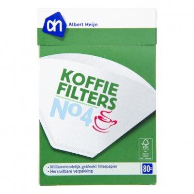Budget Huismerk Koffiefilters wit nr. 4