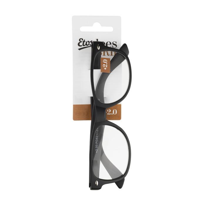 Huismerk Leesbril mat zwart +2