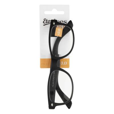 Huismerk Leesbril mat zwart +3